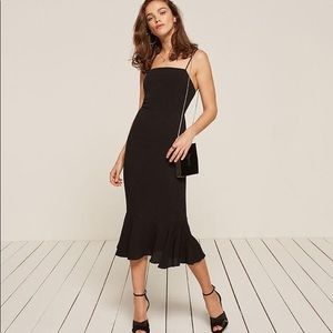 Reformation Black Strappy Moxie Dress 0/Xs